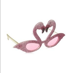 Accessories - Pink glitter flamingo sunglasses